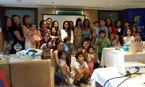 Rose Fres Fausto with participating parents and kids