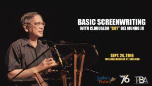 screenwriting september activity Manila