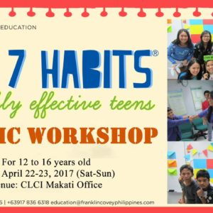 The 7 Habits of Highly Effective Teens Public Workshop