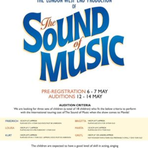 Pre-registration for Auditions The Sound of Music