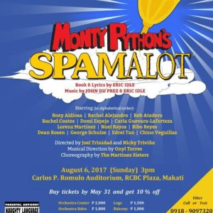 Monty Python's Spamalot on August 6