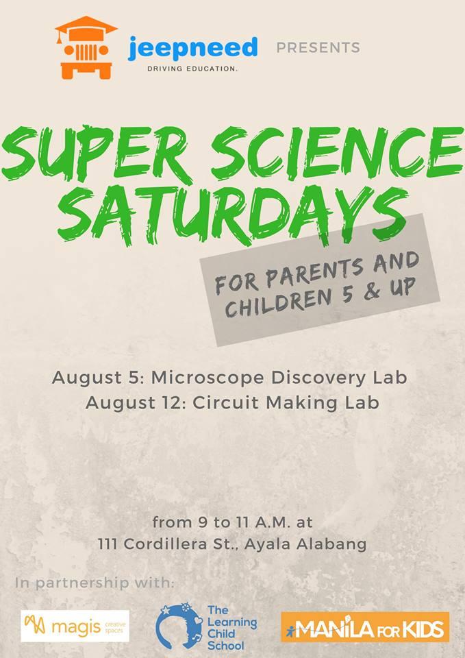 Jeepneed Super Science Saturdays