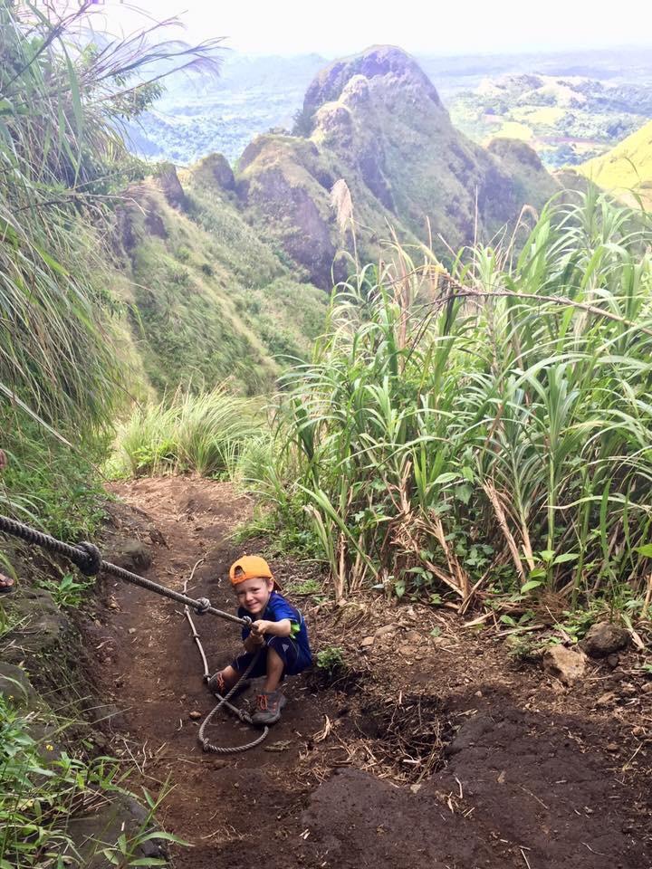 Hiking Mount Batulao with kids
